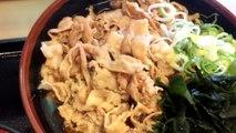 富士そばの肉極そば、肉増し増し増し。