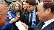 Guingamp. Bain de foule pour François Hollande