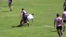 Rugby : fou de rage il met KO l'arbitre avant de provoquer une bagarre générale (Vidéo)