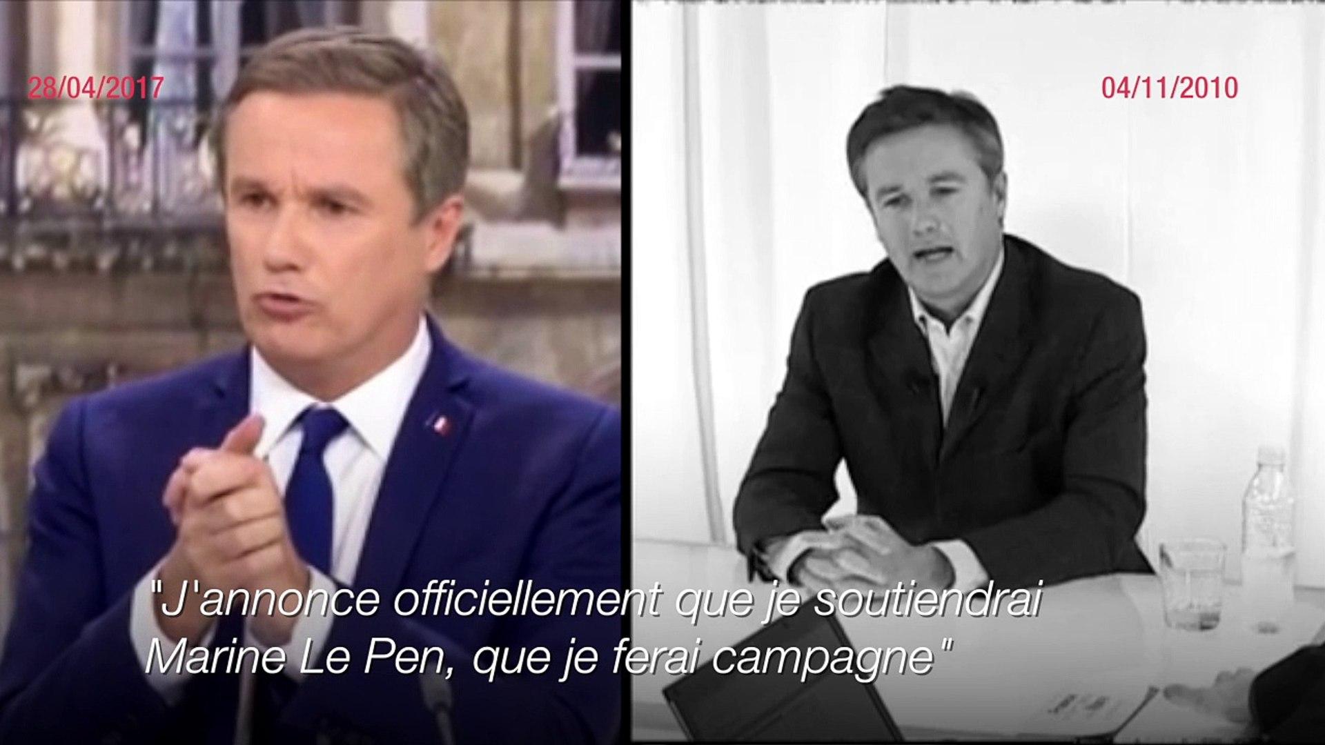 Miroir mon beau miroir: quand Dupont-Aignan excluait de rejoindre le Front national