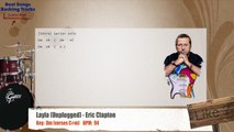 Layla (Unplugged) - Eric Clapton Drums Backing Track with chords and lyrics