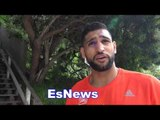 Amir Khan Not Only Fast Hands Fast On His Feet Too - Leaves Seckbach In Dust - EsNews Boxing