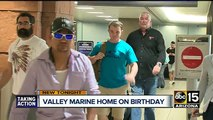 Valley Marine comes home for his birthday