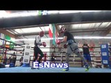 world class boxers sparring in oxnard - EsNews Boxing
