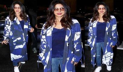 Priyanka Chopra At Airport Returning Back To USA