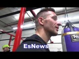 Kickboxing champ Enrique working out in oxnard along with Egis EsNews Boxing