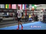 Vasyl Lomachenko Full Workout Impressive Footwork and Hand Speed EsNews Boxing