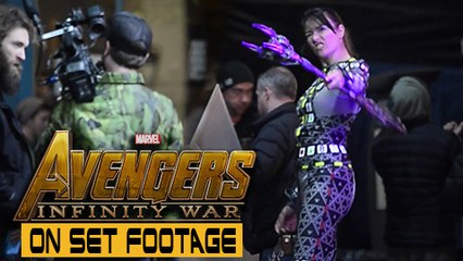 Avengers Infinity War ON SET FOOTAGE | Scarlet Witch Action Scene