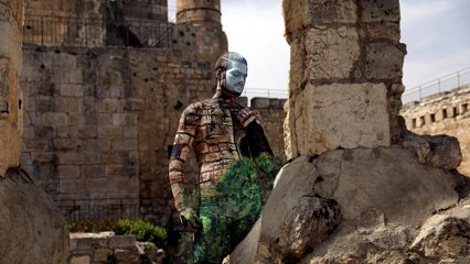 Body artist is inspired by Israel's iconic sites