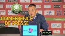 Conférence de presse Gazélec FC Ajaccio - Valenciennes FC (1-0) : Jean-Luc VANNUCHI (GFCA) - Faruk HADZIBEGIC (VAFC) - 2016/2017