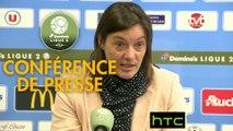 Conférence de presse Tours FC - Clermont Foot (3-0) : Gilbert  ZOONEKYND (TOURS) - Corinne DIACRE (CF63) - 2016/2017