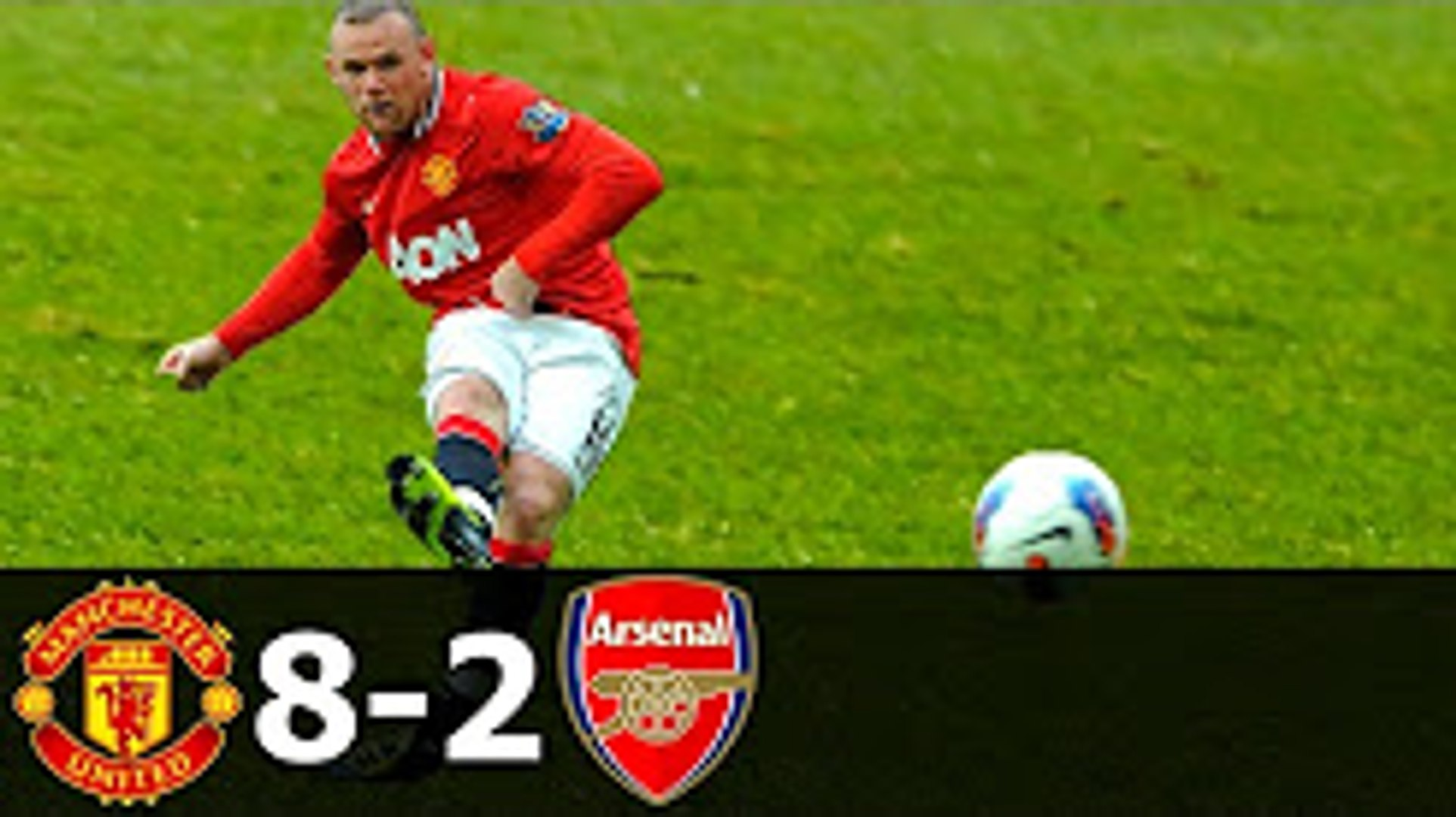 Manchester United Vs Arsenal 8 2 All Goals With English Commentary Video Dailymotion