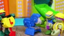 Teenage Mutant Ninja Turtles Cowabunga Construction Crew New Half Shell Heroes Pranked by Rocksteady-nX