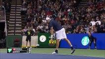 Tennis - Le superbe point de Roger Federer face à John Isner