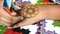 How to do simple beautiful Henna Mehndi designs for hands-Matroj Mehndi designs