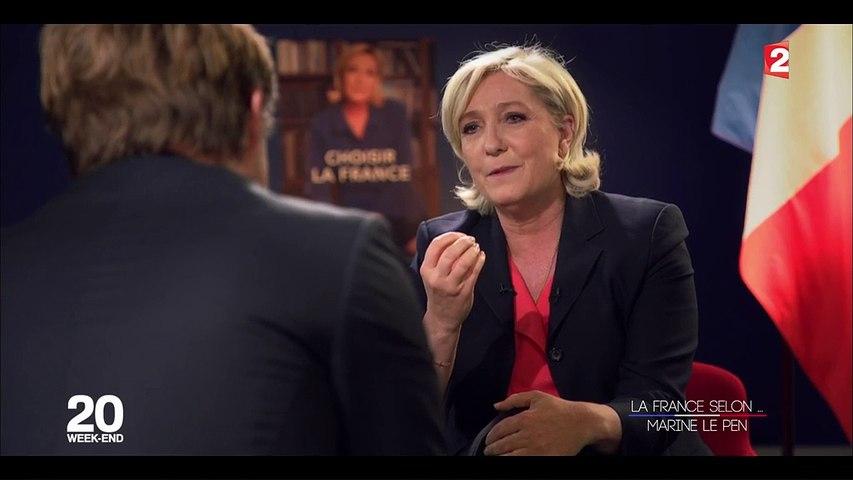 """""""Je me sens du peuple"""" : regardez l'interview de Marine Le Pen sur France 2"""