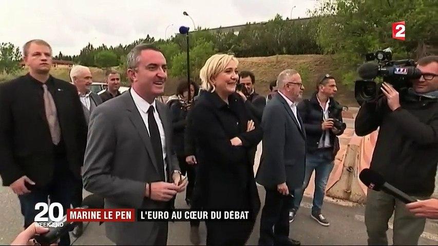 Marine Le Pen : la position ambiguë de la candidate sur la sortie de l'euro