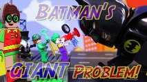 Lego Batman Movie Giant Problem Batman and Robin Transform to Huge Gigantic Lego Minifigures-0TMU