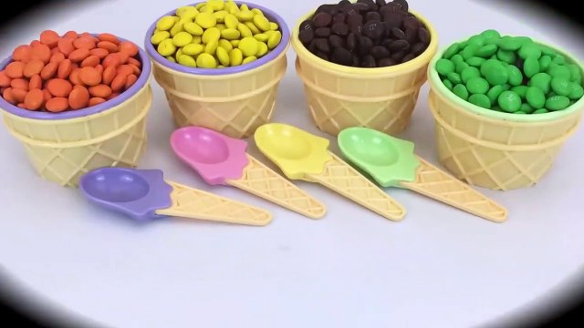 Ice Cream Cups Stacking Candy M&M Surprise Toys Blaze and the Monster Machines learn Colors for Kids-0YupU