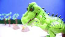 DINOSAUR ROBOT Training and Building a Robot DINOSAUR Toy Video for Kids   Review-RRcBQN