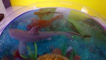 DIY SHARK Toys Slime Aquarium Fish Tank - Toy Sharks, Sea Animals, Toys and Slime _ Craft Videos-F