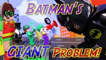 Lego Batman Movie Giant Problem Batman and Robin Transform to Huge Gigantic Lego Minifigures-0TMU_3On