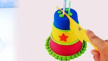 Rainbow Kinetic Sand DIY How to make Colors Kinetic Sand Cake! Birthday Cake Play Sand-TjNoF