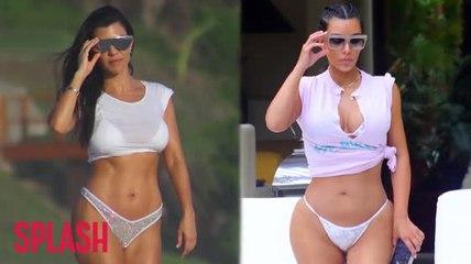Kim y Kourtney Kardashian en biquini pasando tiempo de calidad en Méjico