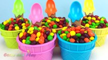 Skittles Candy Ice Cream Surprise Toys Learn Colors Play Doh Strawberry Pooh Bear Peppa Pig Elephant-8