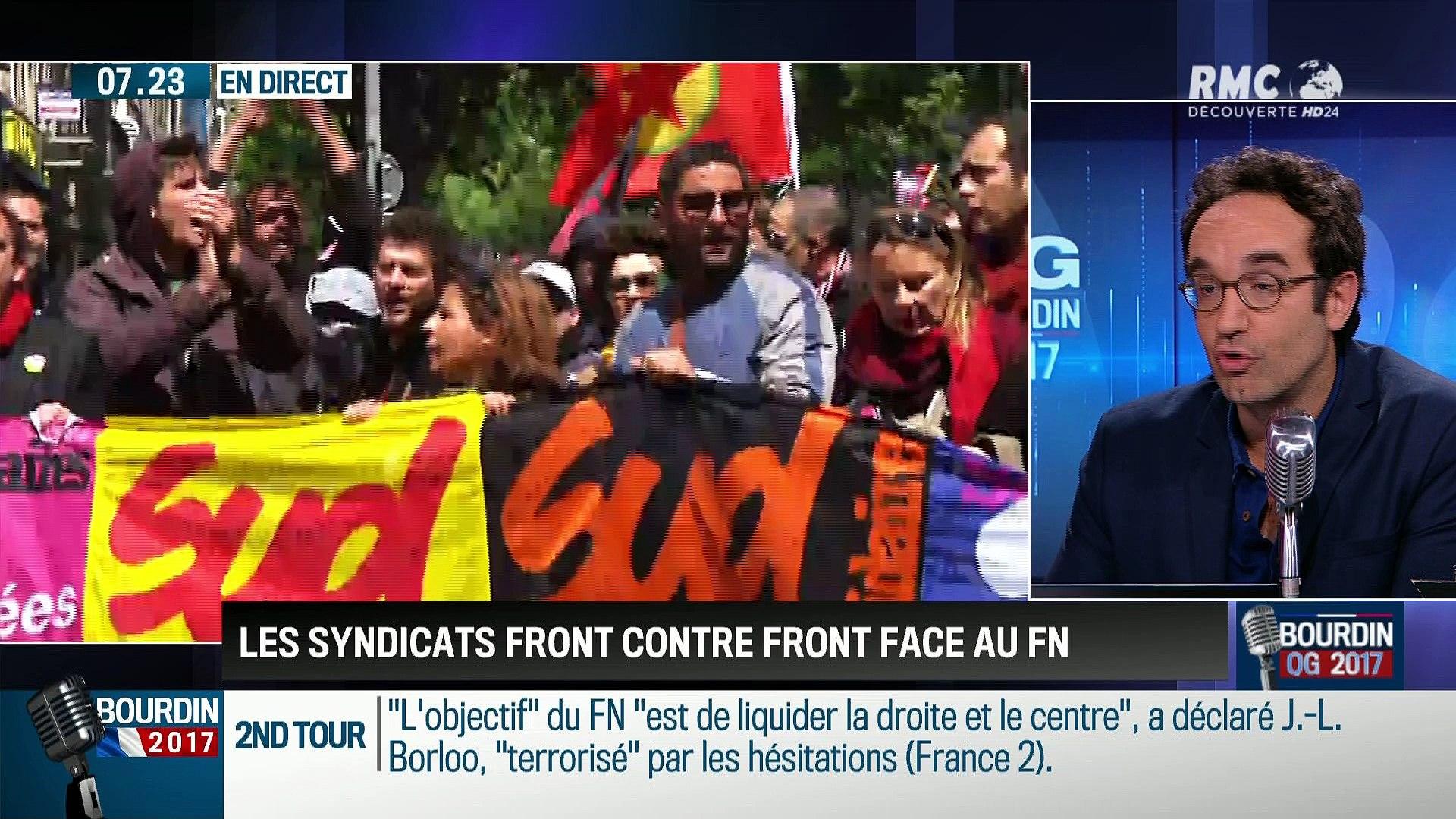 QG Bourdin 2017 : Les syndicats front contre front face au FN - 01/05