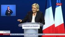 """Marine Le Pen veut tracer une voie alternative """"entre le tout-économie et le tout-religion"""""""