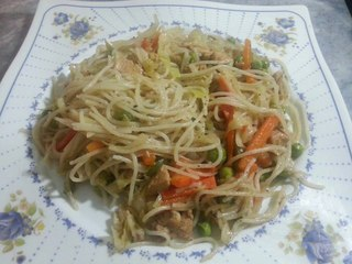 Chicken And Vegetable Spaghetti Recipe By Arshadskitchen
