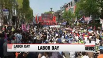 Thousands of workers gather to commemorate International Workers' Day