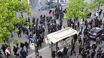 Paris : violents affrontements entre casseurs et CRS en marge des manifestations