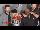 """The Voice"" Season 3 Christina Aguilera, Adam Levine, Top 12 Contestants ARRIVALS"