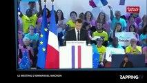 Emmanuel Macron : Ségolène Royal présente au meeting du candidat (vidéo)