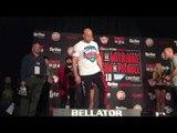 Bellator Fedor vs Mitrione face off weigh in - esnews boxing mma UFC bellator
