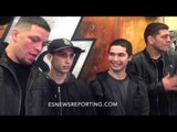 Nate Diaz and Nick Diaz with fans - esnews boxing mma UFC