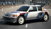 Eiger Nordwand - Court - Peugeot 205 Turbo 16 Evolution 2 '86 - Voiture de rallye à 4 roues motrices Super tour - 500pp