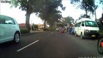 Quand la nature prend sa revanche sur l'homme : cycliste fauché par une branche