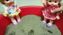 Baby doll メルちゃん どろんこ遊び!おやまにトンネル!メルちゃんたちは見てるだけ! ❤ 子供向け おもちゃ アニメ キッズ ごっこ 遊び 人形 トイキッズ Toy