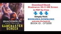 Read Shadowrun 5th E GM Screen PDF Free - video dailymotion