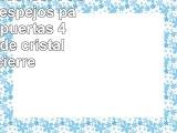 Mebasa MYB904507T  Armario con espejos para baño 2 puertas 4 bandejas de cristal con