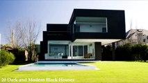20 Dark and Modern Black Houses-AraQ