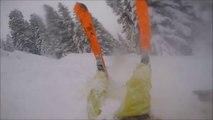 Entraînement d'un pro du ski : chutes en série !