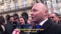 Un comédien tente de dialoguer avec des militants d'extrême droite le 1er mai