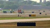 Avião faz pouso de emergência após perder pneu na Flórida