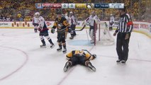Sidney Crosby takes cross-check to the face!