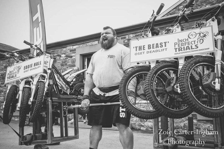 Trials of Strength | Eddie Hall | Worlds Strongest Man | 420kg Deadlift of Trials motor bikes!
