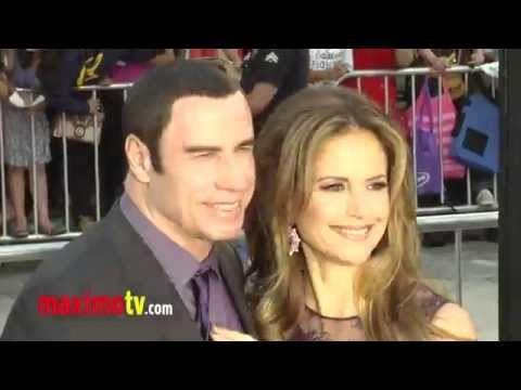 John Travolta Kisses Kelly Preston at SAVAGES Premiere